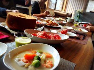 本日(3/4)の料理教室@マルベリーキッチン
