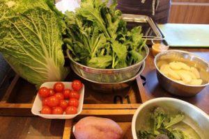 今月のマルベリーキッチンは「白菜」「春菊」を楽しむメニューです♪