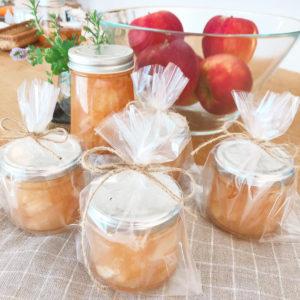 10月「おやつの会」かぼちゃのプリンとりんごのジャムを作りました。